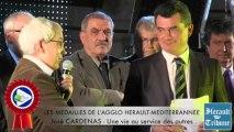 HERAULT - 2014 - José CARDENAS honoré de la Médaille d'honneur de la Communauté d'Agglomération HERAULT MEDITERRANNEE