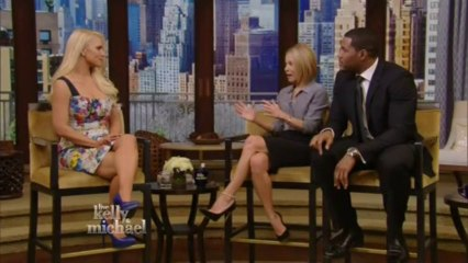Jessica Simpson on Live with Kelly and Michael, January 8 2014