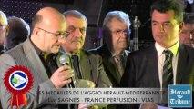 HERAULT - 2014 - Luc SAGNES  honoré de la Médaille d'honneur de la Communauté d'Agglomération HERAULT MEDITERRANNEE