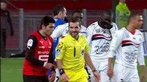 L'arbitre de Rennes-Nice prend le ballon en pleine tête- 20ème journée de Ligue 1 - 2013/2014