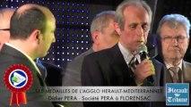 HERAULT - 2014 - Didier PERA honoré de la Médaille d'honneur de la Communauté d'Agglomération HERAULT MEDITERRANNEE