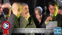 HERAULT - 2014 - Philippe MONTELS honoré de la Médaille d'honneur de la Communauté d'Agglomération HERAULT MEDITERRANNEE