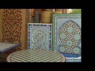 Fontaines de jardin marocaines en zellige