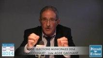 AGDE - 2014 - MUNICIPALES 2014  - ENTRETIEN avec HENRI COUQUET - AGDE GAGNANT par Didier DENESTEBE