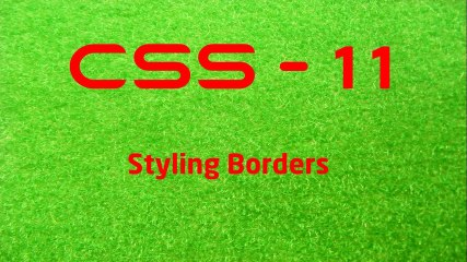 CSS - 11 LearnWithSaad - Styling Borders