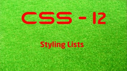 CSS - 12 LearnWithSaad - Styling Lists