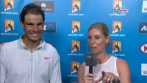 Rafael Nadal Interview for Eurosport after his match against Tomic at Australian Open 2014