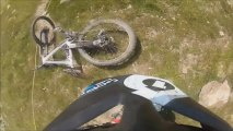 Moutain Bike Crashes Montage At Alpe Dhuez