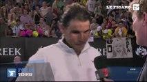 Rafael Nadal surpris par des questions sur sa vie privée