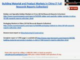 Building Material and Product Markets in China (7 Full Research Reports Collection)