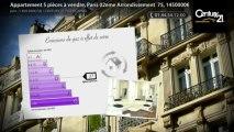 Appartement 5 pièces à vendre, Paris 02eme Arrondissement  75, 1450000€