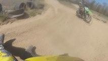 Supercross Dirt Bike Action + CRASH