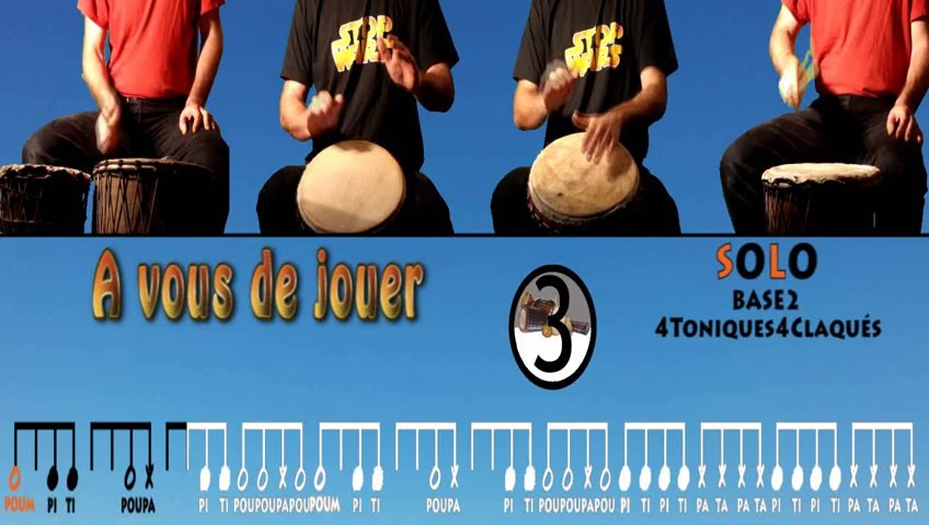 Apprendre le djembe : FRA 7ème partie (débutants)