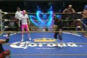 Diamante Azul, La Sombra, Shocker vs Pierroth, Rey Bucanero, Volador Jr.