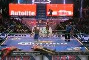 Ángel de Oro, Fuego, Guerrero Maya Jr. vs Felino, Puma, Tiger
