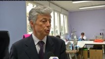 Visite d'Henri-Michel Comet à la PME Lagarringue (Toulouse)