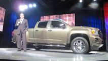 GM CEO  MARY BARRA and MARK REUSS at the 2015 GMC CANYON REVEAL NewCarNews.TV Bob Giles