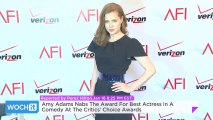 Amy Adams Nabs The Award For Best Actress In A Comedy At The Critics' Choice Awards
