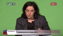 Conférence de presse d'Emmanuelle Cosse (Europe-Ecologie Les Verts)
