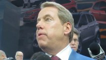 BILL FORD JR. EXPLAINS USE OF ALUMINUM IN NEW FORD F-150 PICKUP at NAIAS - NewCarNews.TV Bob Giles