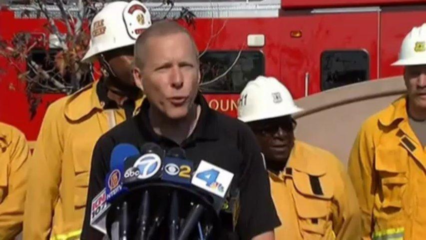 California wildfire destroys homes near Los Angeles