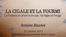 La Fontaine en amont et en aval : les fables et l'image par Antoine Biscéré