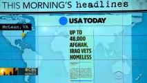 Headlines: 50,000 veterans are homeless or at risk of homelessness