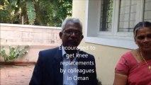 Total knee replacement surgery in India - Sri Lankan patient testimonial