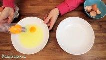 Méthode fun pour séparer les blanc des jaunes d'œufs... Marrant!