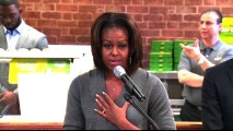 """Michelle Obama to kids: Healthy eating makes """"huge difference"""""""