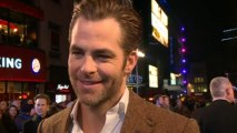 Hot Chris Pine talks Star Trek at Jack Ryan premiere
