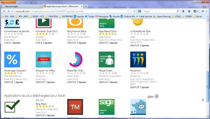 Office 365 : Insertion d'une application office