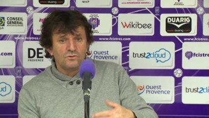 Istres - Brest : Réaction du coach José Pasqualetti