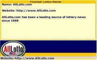 Powerball Lottery Drawing Results for January 22, 2014