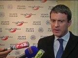 """Valls sur la délinquance: """"le sentiment d'insécurité est liée à des réseaux qui viennent de l'est"""" - 23/01"""