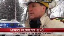 Menino de 8 anos salva seis pessoas de incêndio e morre