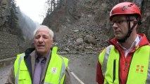 Eboulement de 10 000 mètres cubes de rochers dans les gorges de l'Arly ce jeudi 23 janvier 2014
