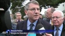 Vincent Peillon en visite dans les écoles sinistrées de Hyères