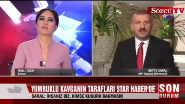 Yumruk atan AKP'li vekil canlı yayında konuştu