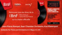 Jean-Pierre Rampal, Saar Chamber Orchestra, Karl Ristenpart - Andante for Flute and Orchestra