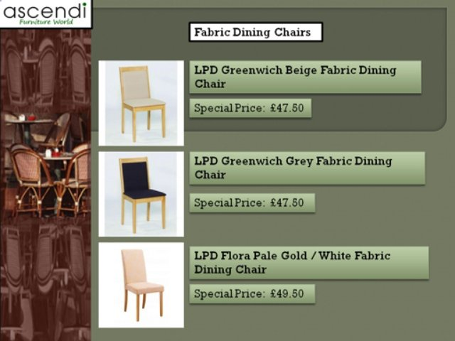 WELCOME TO Fabric Dining Chairs