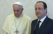 Vidéo : la rencontre de François Hollande et du pape François