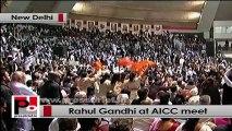Rahul Gandhi at AICC meet thanks Dr Manmohan Singh, Sonia Gandhi