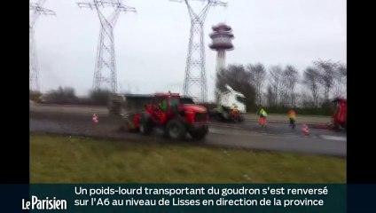 accident poid lourd a6 hier