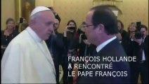 Rencontre entre François Hollande et le pape François le jour de la Saint-François