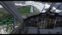 Flightgear DHC-6-300 Twin-otter landing and take-off to l'Alpe d'Huez (LFHU)