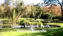 Beautiful and Historical Queens Gardens, Heart of Perth City - Perth Western Australia Holidays