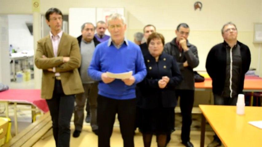 Voeux de Gabriel Dumonteit maire de Saint Martial de Valette