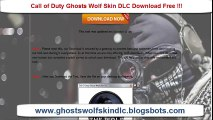 Free Call Of Duty Ghosts Wolf Skin DLC Xbox Ps3