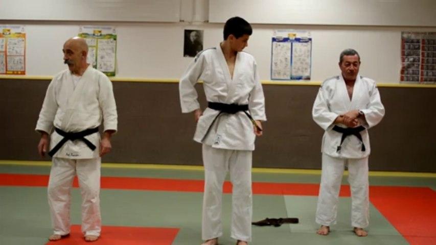 Remise ceinture noire de judo à Antoine Glenisson